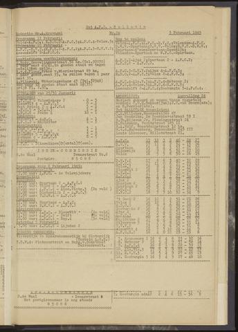 Bulletins (vnl. opstellingen) 1949-02-03