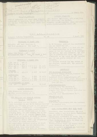 Bulletins (vnl. opstellingen) 1954-03-09