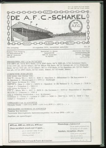 Schakels (clubbladen) 1978-08-16
