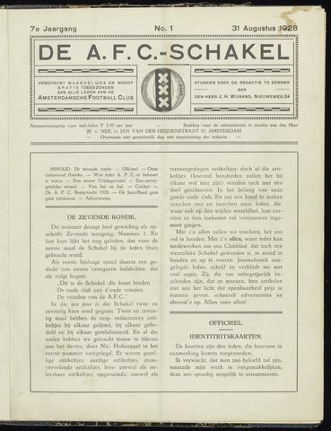 Schakels (clubbladen) 1928-08-31