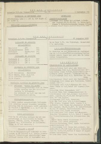 Bulletins (vnl. opstellingen) 1953-08-25