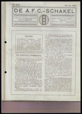 Schakels (clubbladen) 1923-07-30