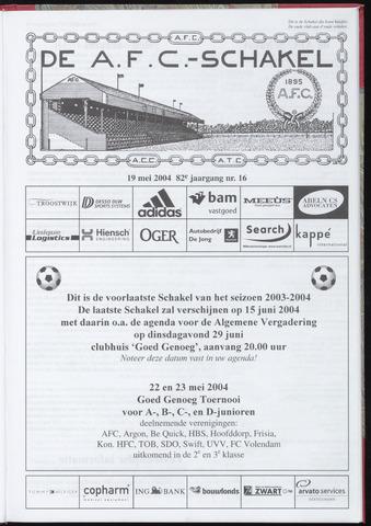 Schakels (clubbladen) 2004-05-19