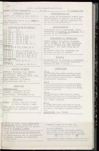 Bulletins (vnl. opstellingen) 1959-02-18