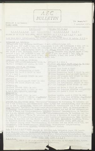 Bulletins (vnl. opstellingen) 1973-11-07
