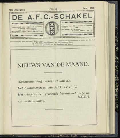 Schakels (clubbladen) 1932-05-01