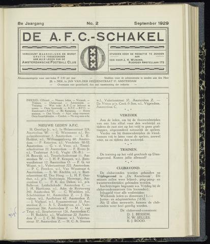 Schakels (clubbladen) 1929-09-01