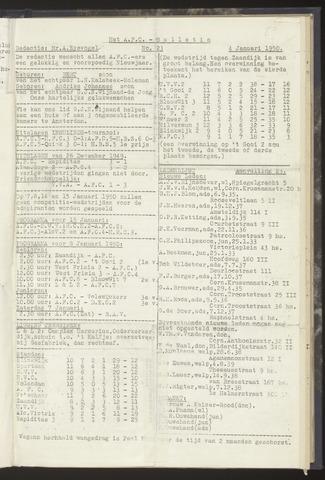 Bulletins (vnl. opstellingen) 1950-01-04