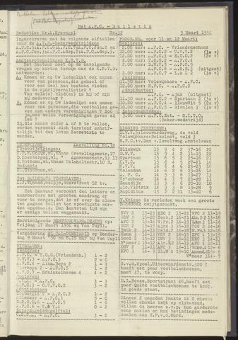 Bulletins (vnl. opstellingen) 1950-03-09
