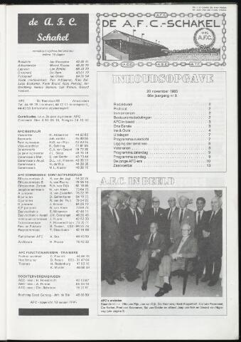 Schakels (clubbladen) 1985-11-20