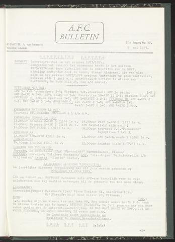Bulletins (vnl. opstellingen) 1973-05-09