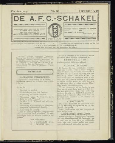 Schakels (clubbladen) 1935-09-01