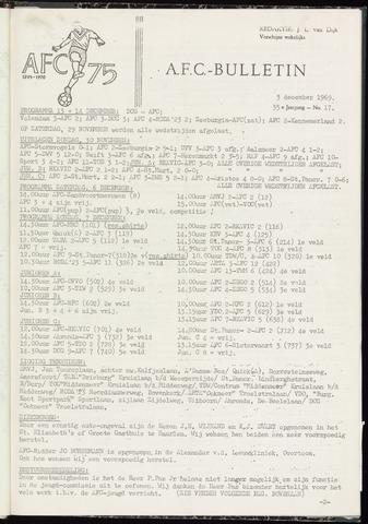 Bulletins (vnl. opstellingen) 1969-12-03
