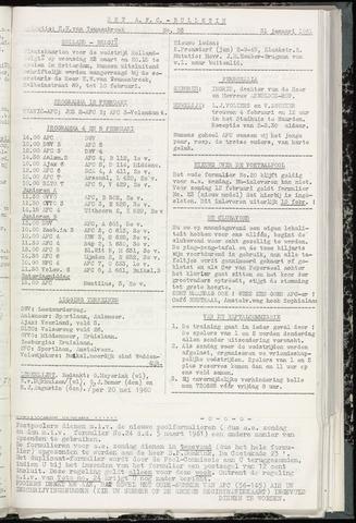 Bulletins (vnl. opstellingen) 1961-01-31
