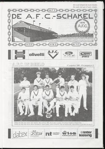 Schakels (clubbladen) 1986-08-27