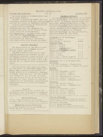 Bulletins (vnl. opstellingen) 1947-04-10