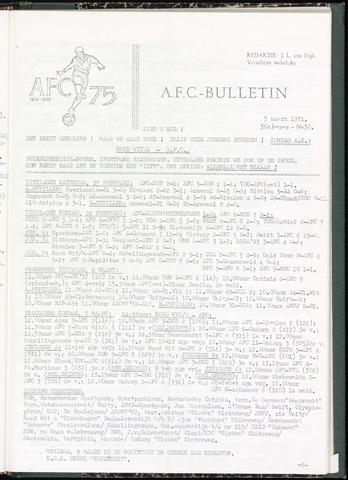 Bulletins (vnl. opstellingen) 1971-03-03