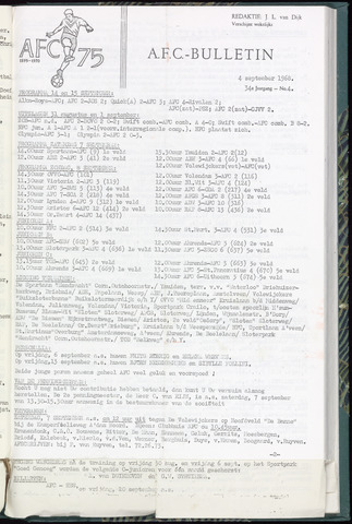 Bulletins (vnl. opstellingen) 1968-09-04