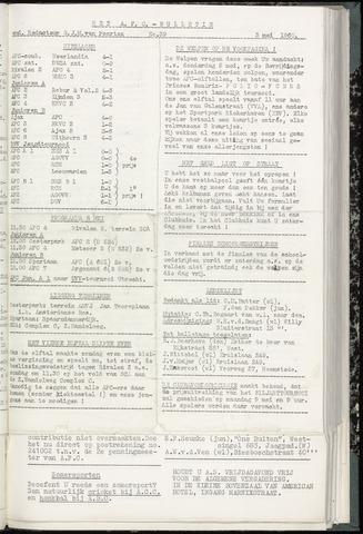 Bulletins (vnl. opstellingen) 1960-05-03