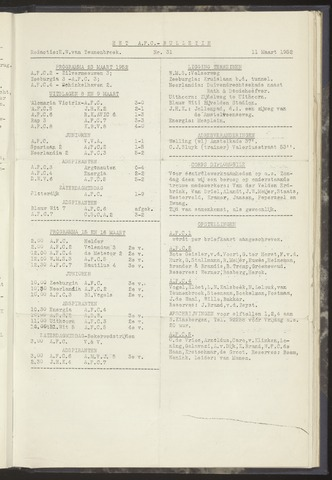 Bulletins (vnl. opstellingen) 1952-03-11