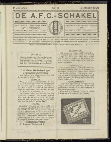 Schakels (clubbladen) 1926