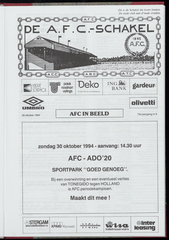 Schakels (clubbladen) 1994-10-26