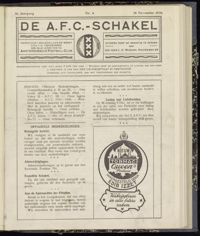 Schakels (clubbladen) 1926-11-18