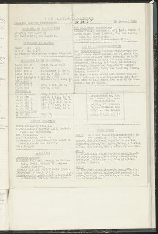 Bulletins (vnl. opstellingen) 1958-01-15