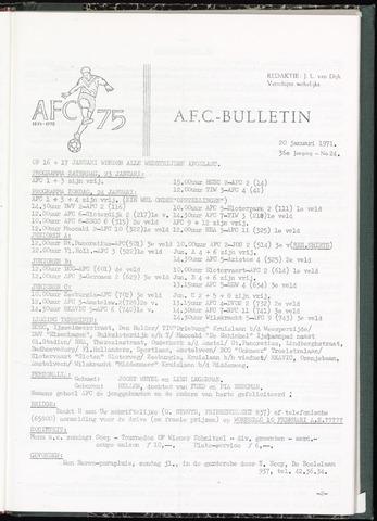 Bulletins (vnl. opstellingen) 1971-01-20