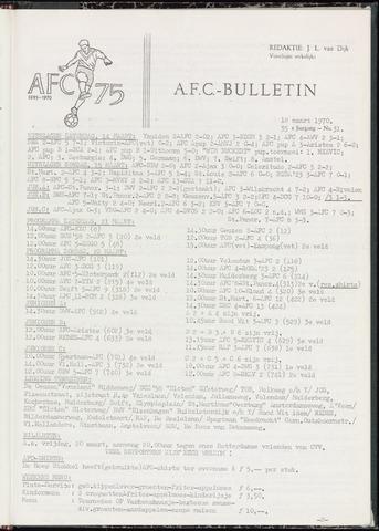 Bulletins (vnl. opstellingen) 1970-03-18