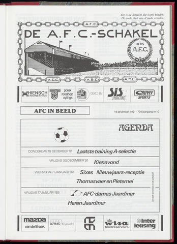 Schakels (clubbladen) 1991-12-18