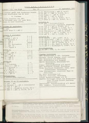 Bulletins (vnl. opstellingen) 1963-09-04