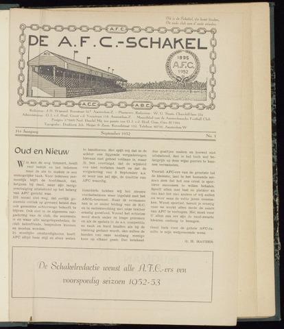 Schakels (clubbladen) 1952-09-01
