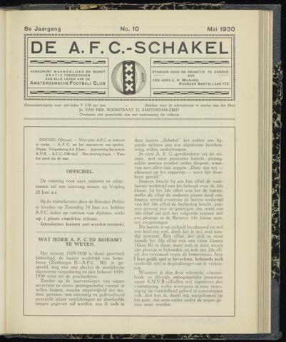Schakels (clubbladen) 1930-05-01
