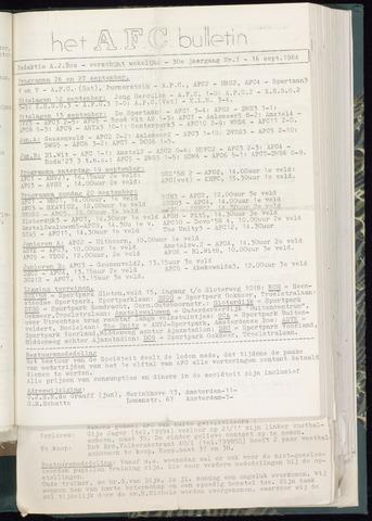 Bulletins (vnl. opstellingen) 1964-09-16