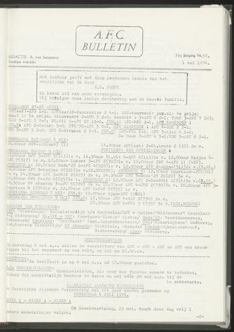 Bulletins (vnl. opstellingen) 1974-05-01