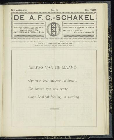 Schakels (clubbladen) 1934