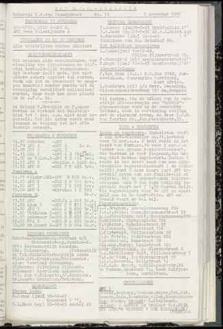 Bulletins (vnl. opstellingen) 1960-11-01