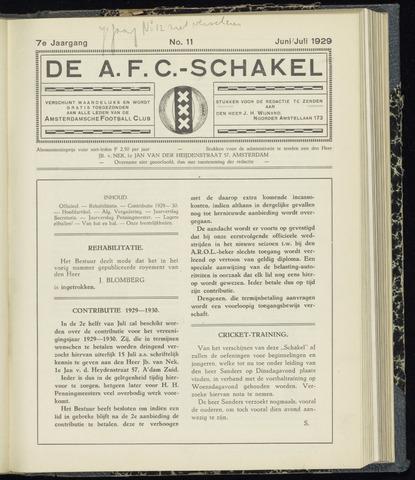 Schakels (clubbladen) 1929-06-01