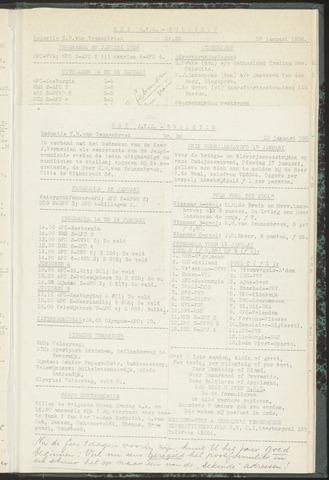 Bulletins (vnl. opstellingen) 1956-01-10