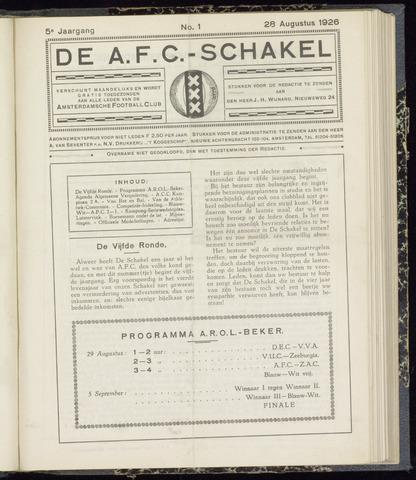 Schakels (clubbladen) 1926-08-28