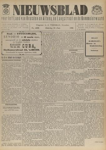 Nieuwsblad het land van Heusden en Altena de Langstraat en de Bommelerwaard 1921-06-18