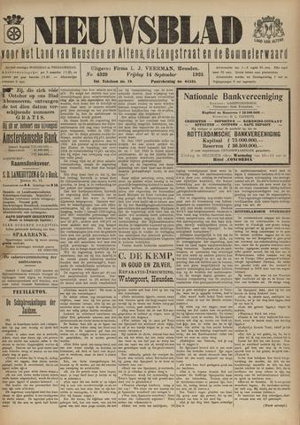 Nieuwsblad het land van Heusden en Altena de Langstraat en de Bommelerwaard 1923-09-14