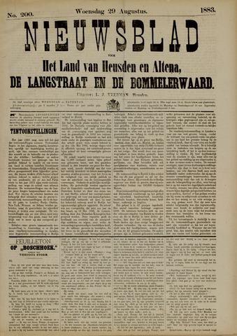 Nieuwsblad het land van Heusden en Altena de Langstraat en de Bommelerwaard 1883-08-29