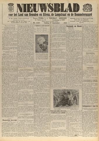 Nieuwsblad het land van Heusden en Altena de Langstraat en de Bommelerwaard 1943-09-17