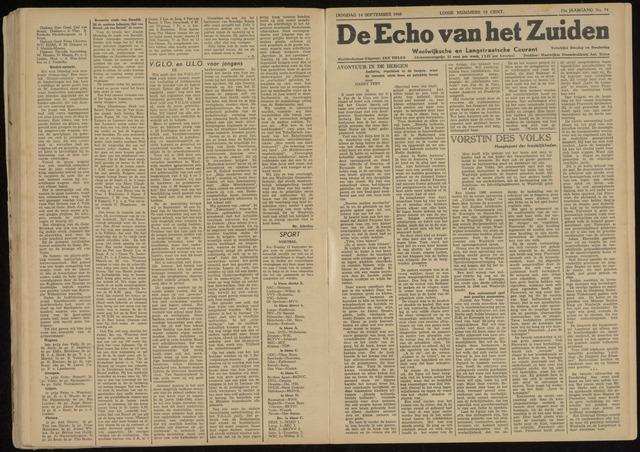 Echo van het Zuiden 1948-09-14