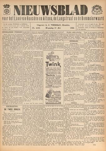 Nieuwsblad het land van Heusden en Altena de Langstraat en de Bommelerwaard 1922-05-17
