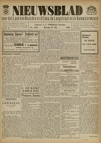 Nieuwsblad het land van Heusden en Altena de Langstraat en de Bommelerwaard 1922-05-27