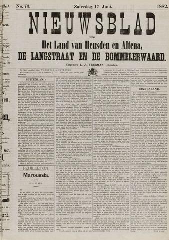 Nieuwsblad het land van Heusden en Altena de Langstraat en de Bommelerwaard 1882-06-17