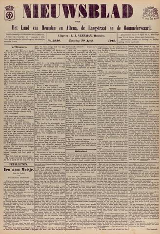 Nieuwsblad het land van Heusden en Altena de Langstraat en de Bommelerwaard 1910-04-30